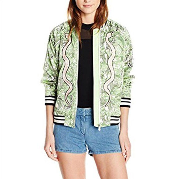 0f5800871a6bd Guess Jackets & Coats | Reese Snake Embroidered Bomber Jacket | Poshmark
